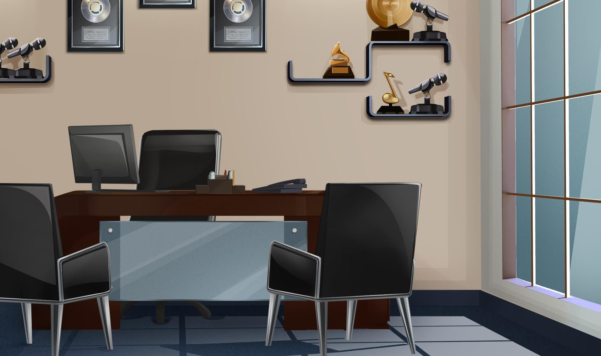 Int Music Agent Office Desk Ol Day Episode Interactive