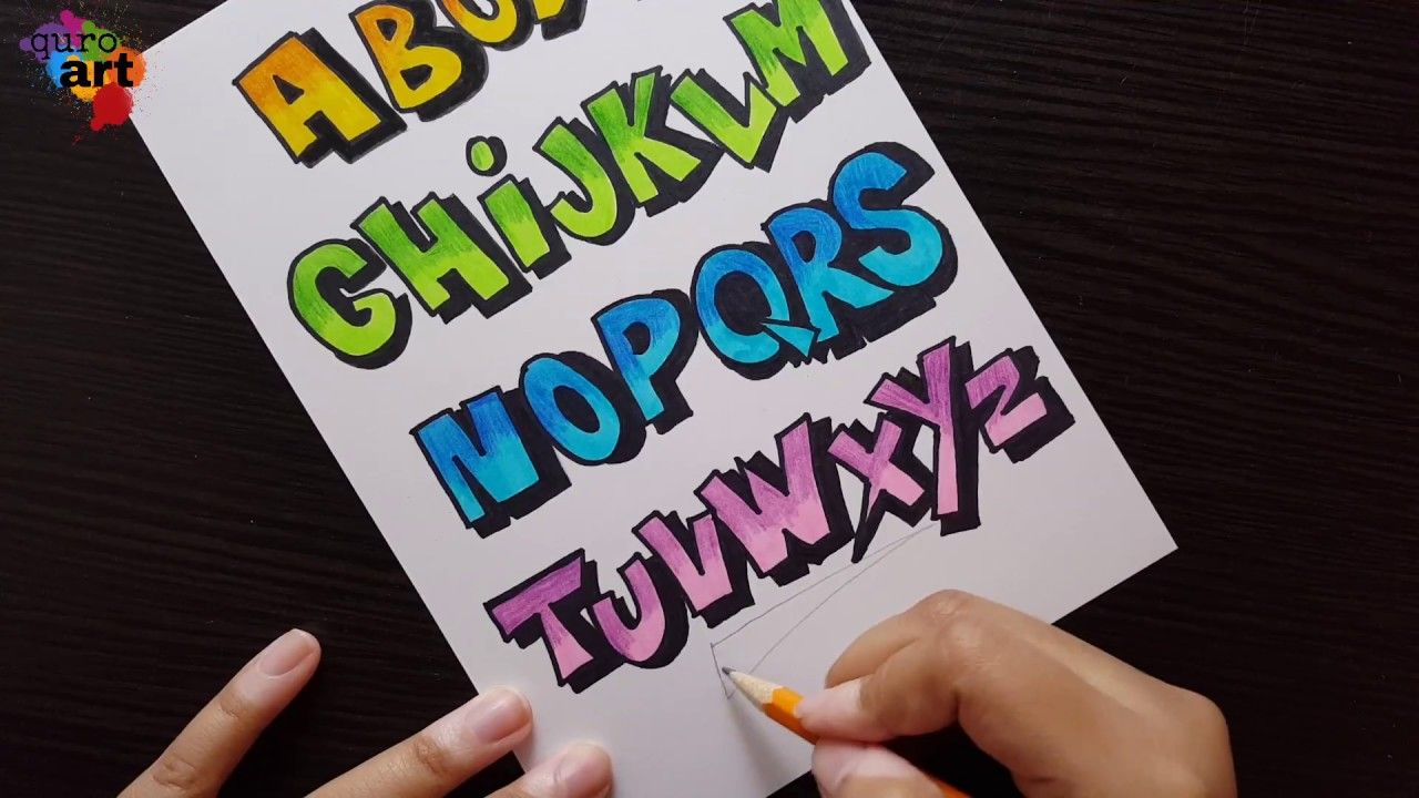 Font Ideas Cartoon Font Font For Assignment School Projects Heading Ideas Youtube Hand Lettering Fonts Lettering Fonts Lettering