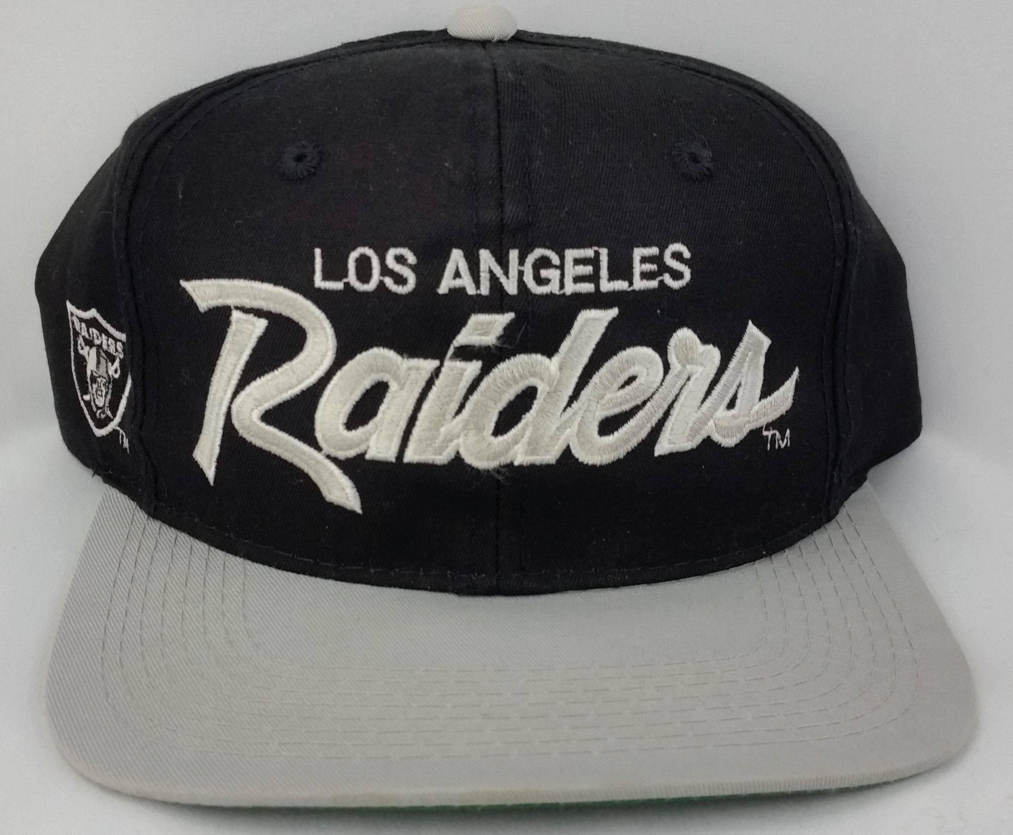 dbdc6465c10 Los Angeles Raiders Snapback Vintage Sports Specialties Script Hat RARE  Oakland
