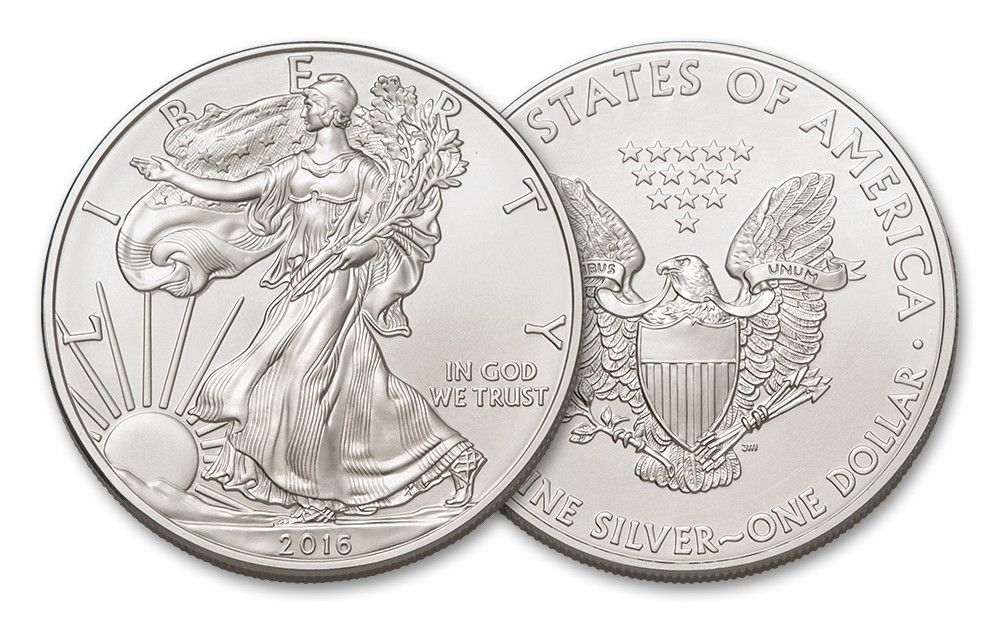 2016 1 Dollar 1 Oz American Silver Eagle Bu Coin Silver Bullion Coins Silver Dollar Value Silver Coins