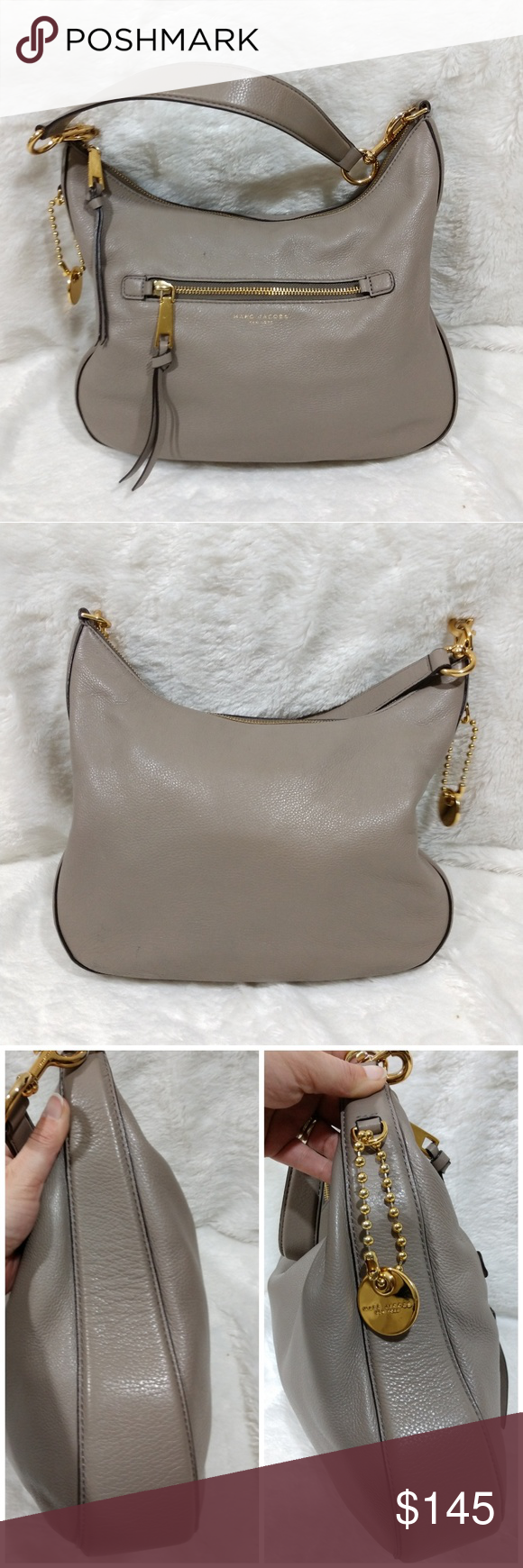 2383a1be73 🆕Marc Jacobs Taupe Hobo Bag Marc Jacobs genuine leather taupe hobo bag.  Gold hardware