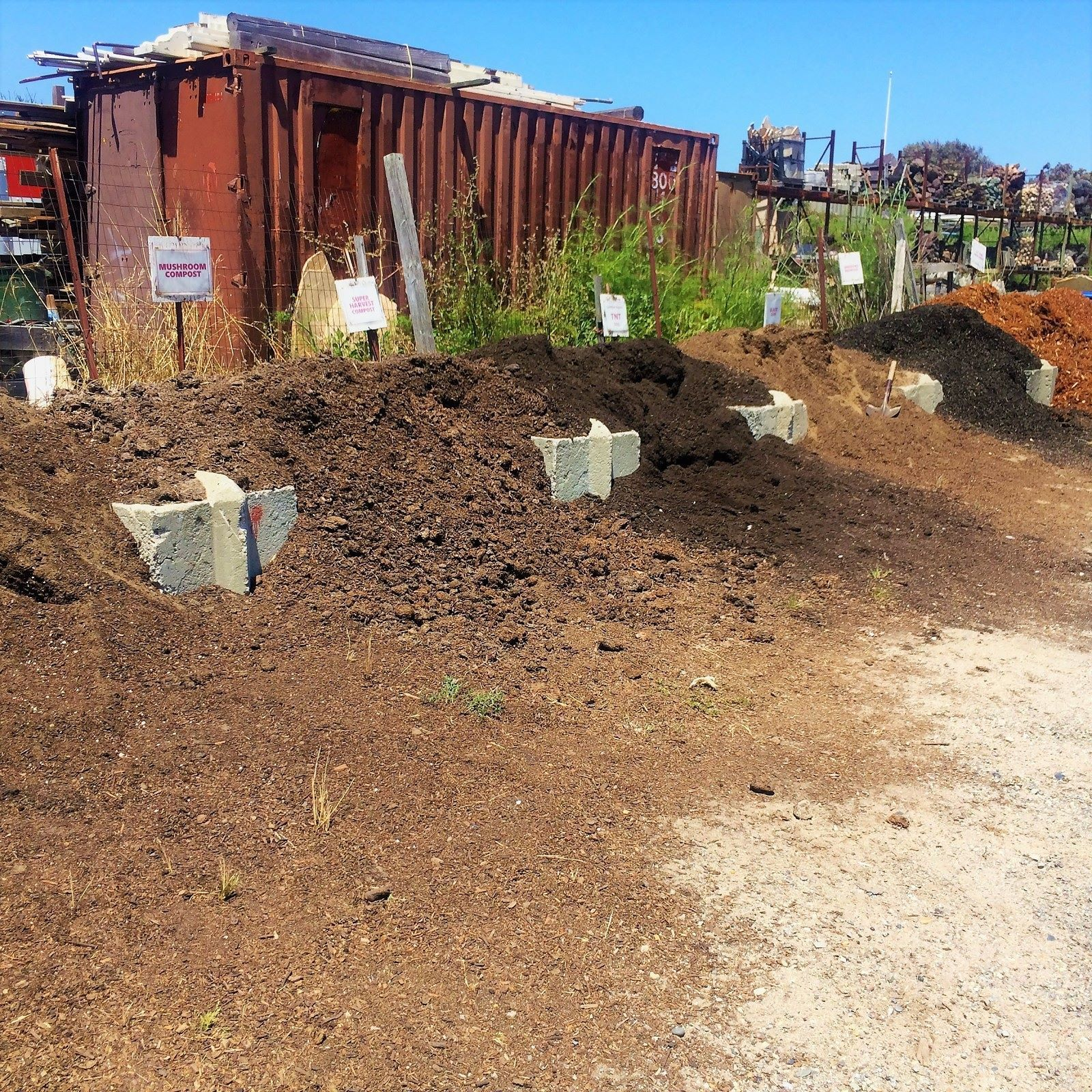 Need soil? Head to your local garden center bring your own sand bags ...