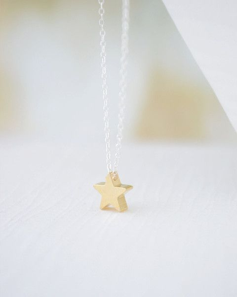 Olive Yews cute little star necklace is available in silver gold