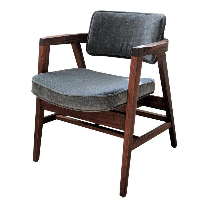 Mid Century Modern Walnut Gunlocke Chair Chair Midcentury