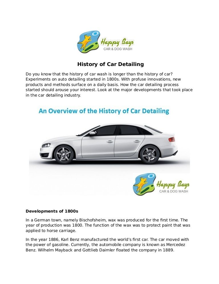 Find out how it began in this History of #Car #Detailing #slideshare ...