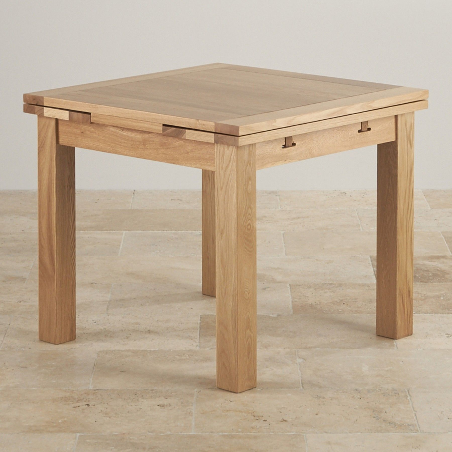 Dorset 3ft X 3ft Natural Solid Oak Extending Dining Table Seats