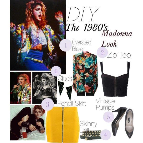 DIY HalloweenThe 1980\u0027s Madonna Look celebrate! Pinterest DIY - madonna halloween costume ideas