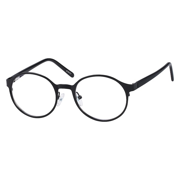 366f4643f19 Zenni Round Prescription Eyeglasses Black Plastic 679721