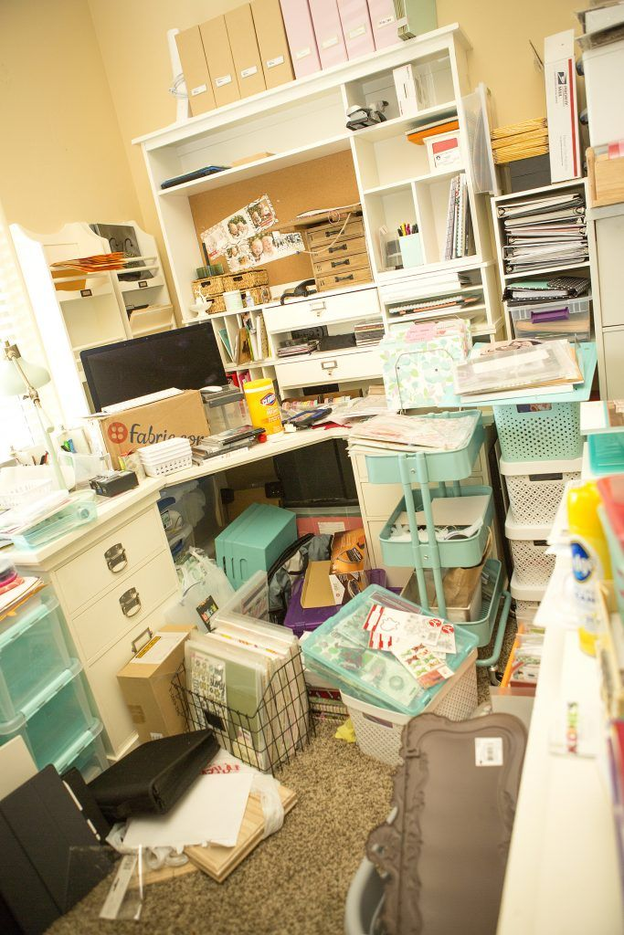 Clearing Away The Clutter Scrapbook Room Organization Craft