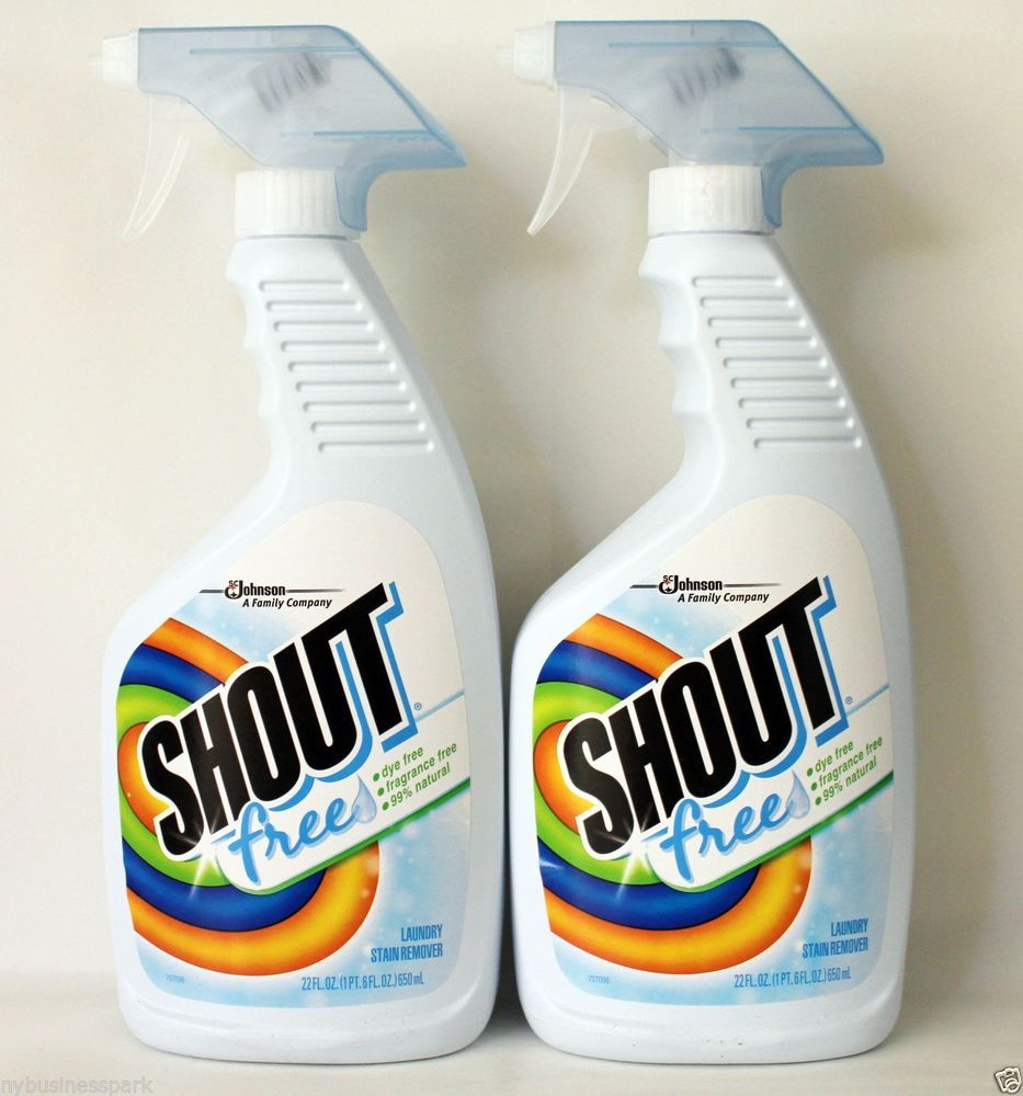 2 Shout Free Laundry Stain Remover Dye Free Fragrance Free 99