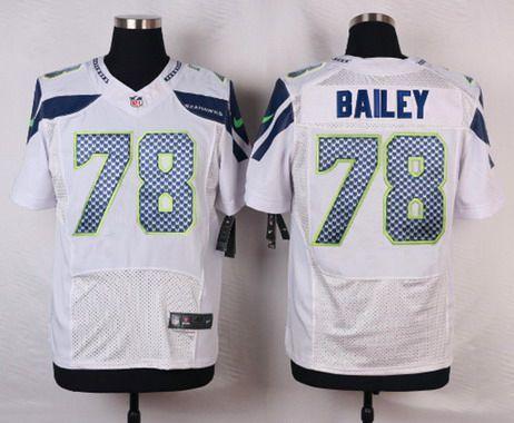 Men's Seattle Seahawks #78 Alvin Bailey Navy Blue Team Color NFL Nike Elite Jersey
