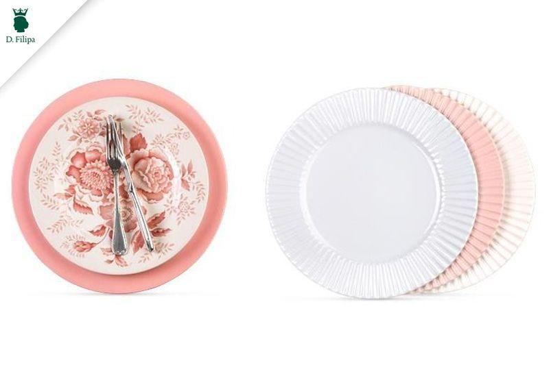 A decoração clássica, nos tons do salmon, nunca sai de moda! Venha conferir a linha de louças da #dfilipa