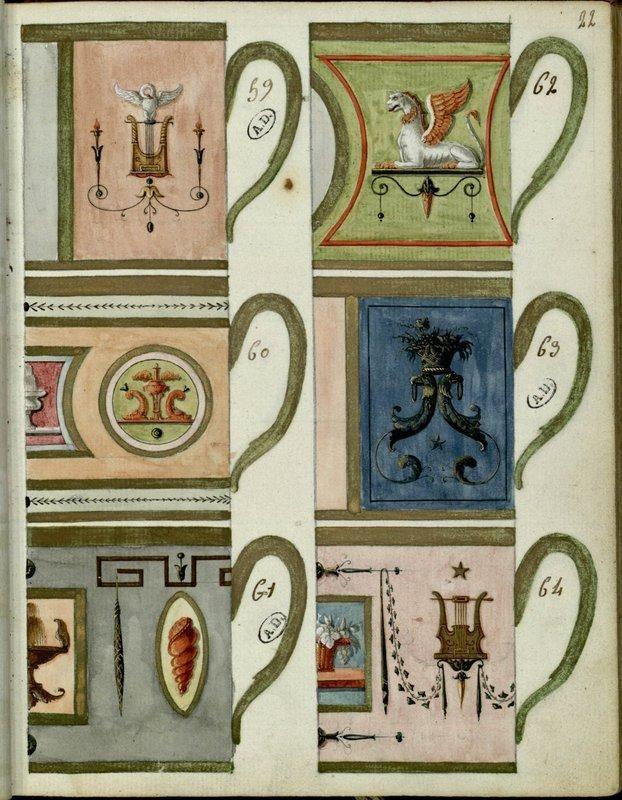 Jean Baptiste Chartier 6 Modeles De Tasses Paris 19e Siecle