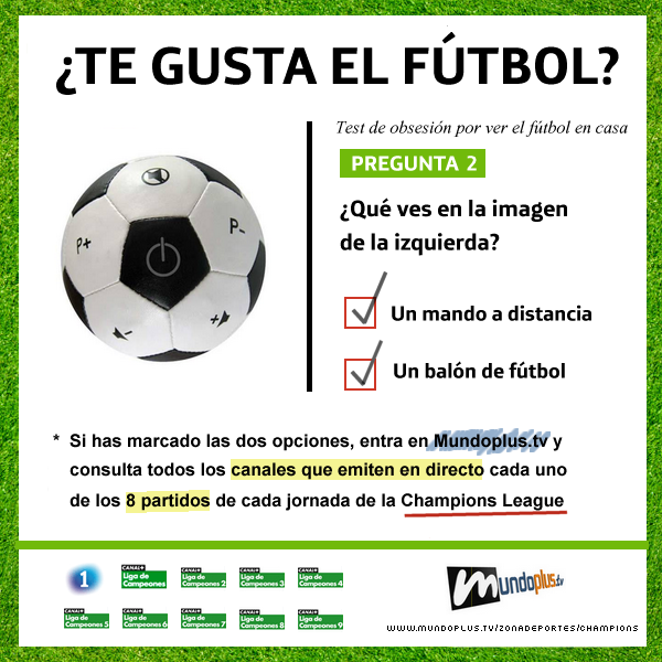 ¿Te gusta el fútbol? (Champions League)