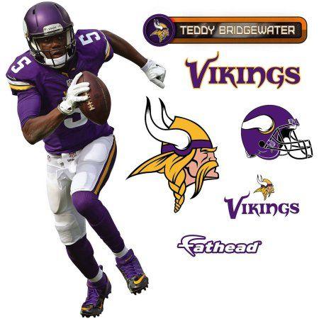 Fathead NFL Teddy Bridgewater 2015 Teammate Player Retail 6-Pack ... 7ecff6e60