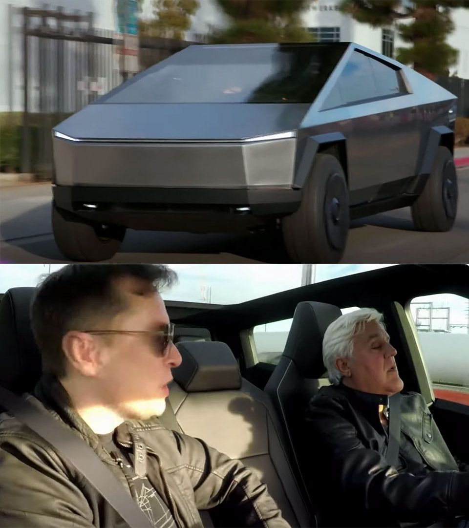 Jay Leno Takes The Cybertruck Out For A Spin Cool Trucks Lego Technic Truck Automotive News