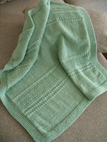 69b2fca7bcb5 Knitted Textured Stripe Baby Blanket - square blanket