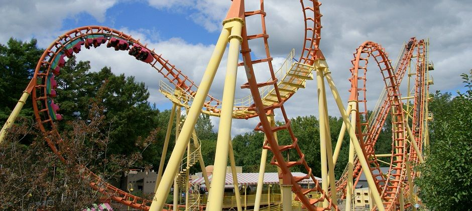 Boomerang Worlds Of Fun Kansas City Mo Worlds Of Fun Thrill Ride Roller Coaster