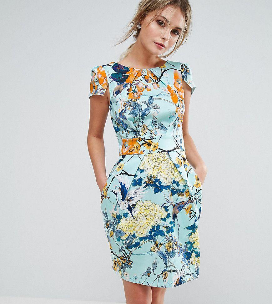 Closet Floral Print Short Sleeve Dress Multi Wedding
