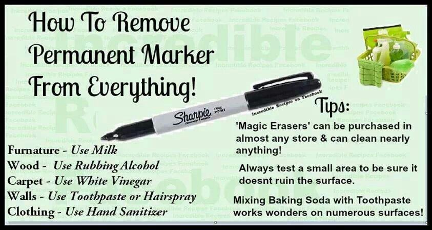 How To Remove Permant Marker From Everything Remove Permanent Marker Permanent Marker Markers