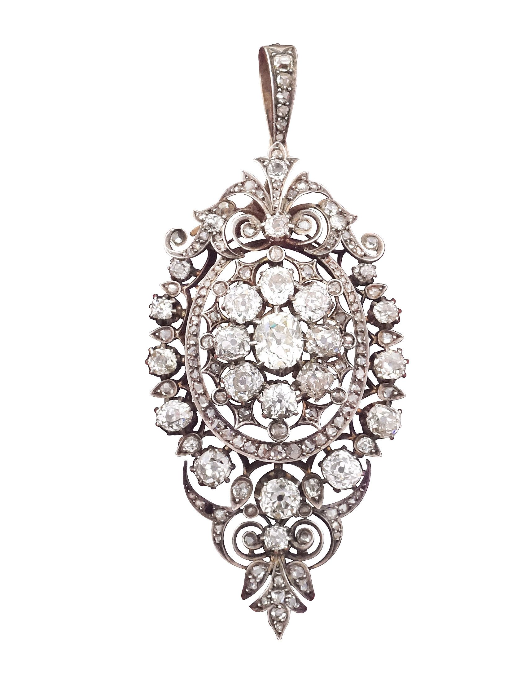 Lot 192 A silver, gold and diamond brooch  Early 19th century http://www.colasantiaste.com/?language=en