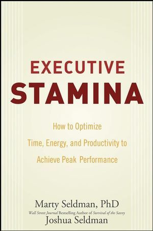 "PMs are often called upon to ""discover"" more time to do something, or to explain progress achieved where progress is hard to demonstrate. This book proposes some interesting ideas that might apply. [Executive Stamina: How to Optimize Time, Energy, and Productivity to Achieve Peak Performance (0470335378) cover image]"