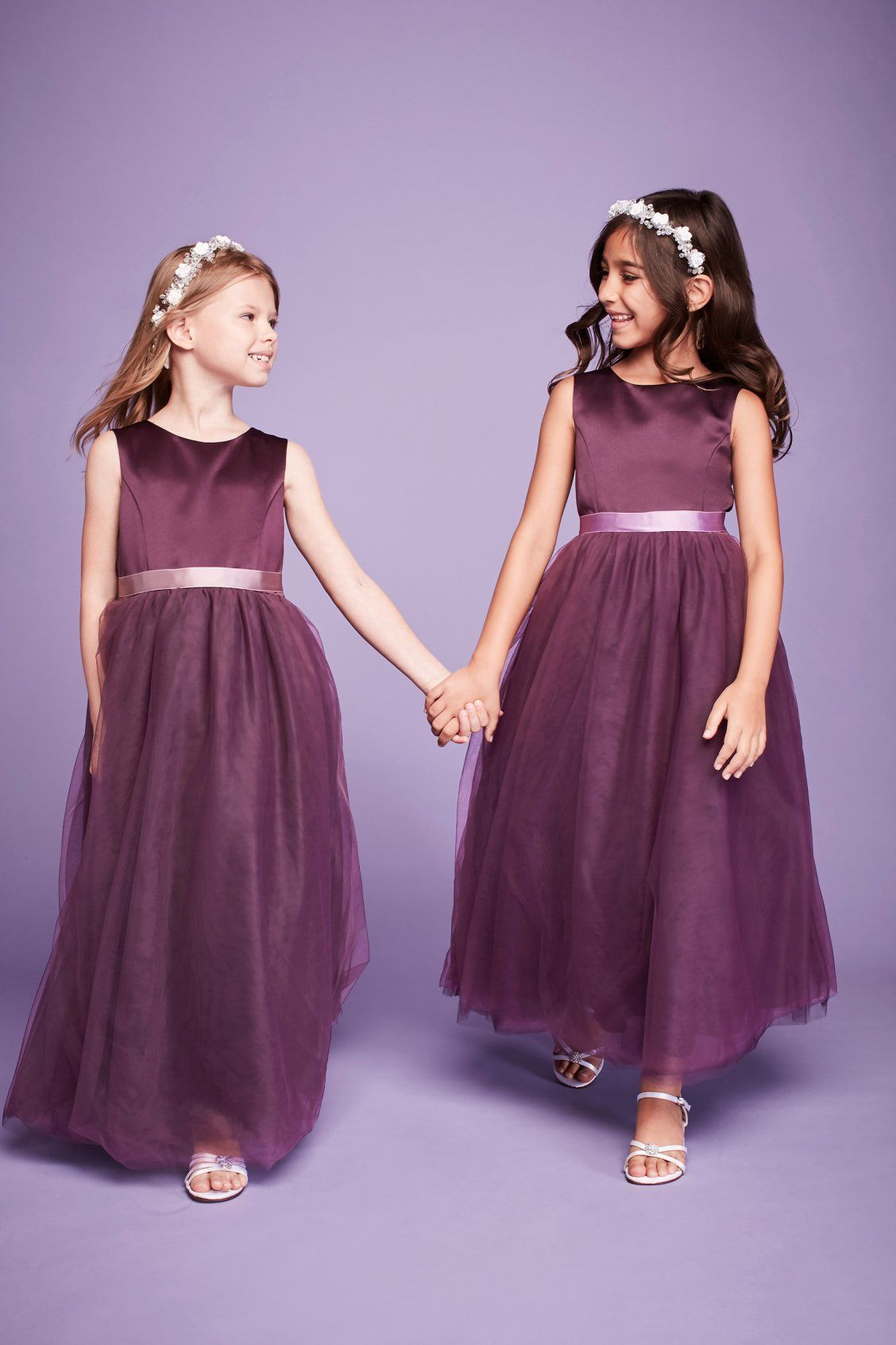 Flower Girl Dresses Weddings & Events Children Kids Flower Girls Dress Chiffon Sleeveless High-low Summer Casual Dress For Daily Holiday Party Beach Formal Dresses Fine Craftsmanship