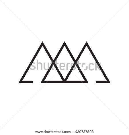 Triangle Logo Past Present Future Minimal Geometry White