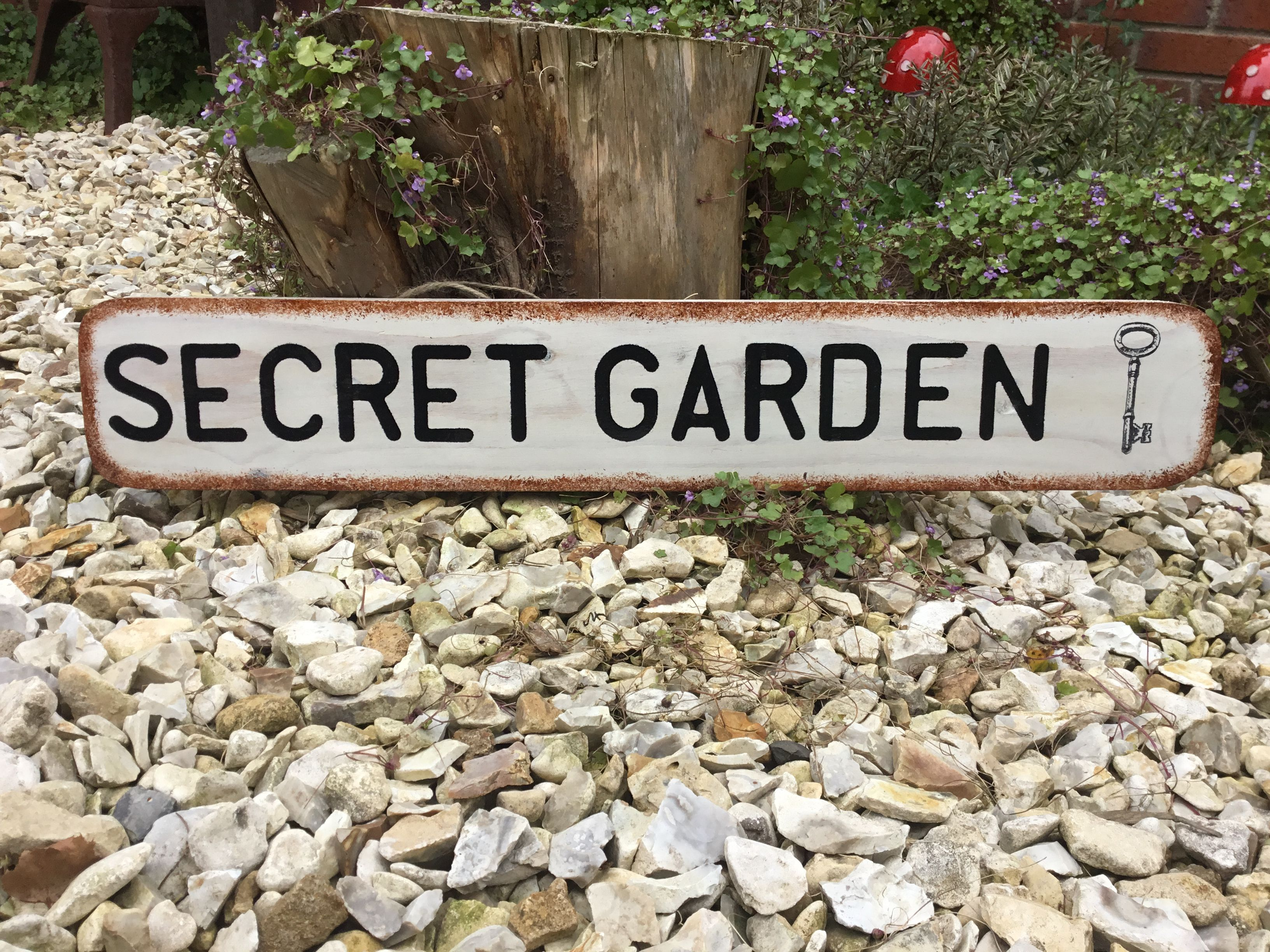 Large Secret Garden Sign Made From Reclaimed Wood In A Wide Variety Of Colours Personalised Gifts Handmade Unique Personalized Gift Personalized Gifts