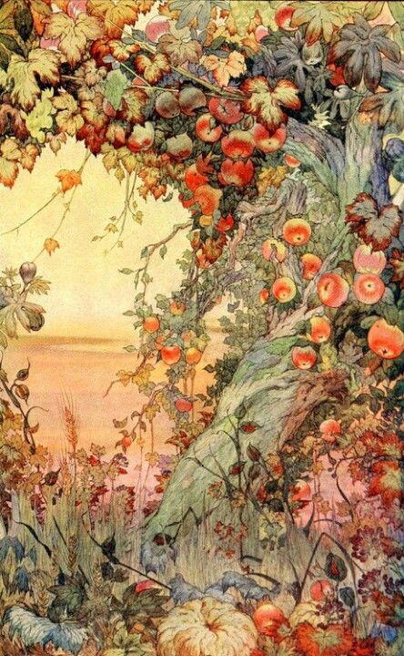Dieu dit: « Que les eaux qui sont au-dessous du ciel ce rassemblent à un seul endroit et que le sec apparaisse!»  Et cela se passa ainsi. Puis Dieu dit: « Que la terre produise de la verdure, de l'herbe à graine, des arbres fruitiers qui donnent du fruit selon leur espèce et qui contiennent leur semence sur la terre!» Et cela se passa ainsi. Ce fut le troisième jour.  Genèse 1, 9 à 13.  La Bible.