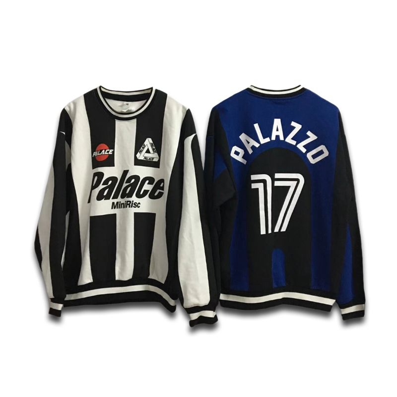 f784448584ea Palace Logo Palazzo Knit Jersey Feelin like a player with this sport-themed  shirt!  palace  palacelogo  palazzo  knitjersey  streetwear  streetfashion  ...