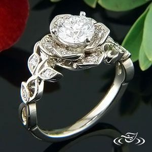 diamond lotus engagement ring from green lake jewelry - Lotus Wedding Ring
