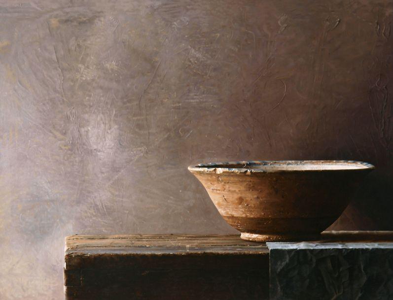 Persian bowl oil on wood 81 x 105 cm Volkert Olij