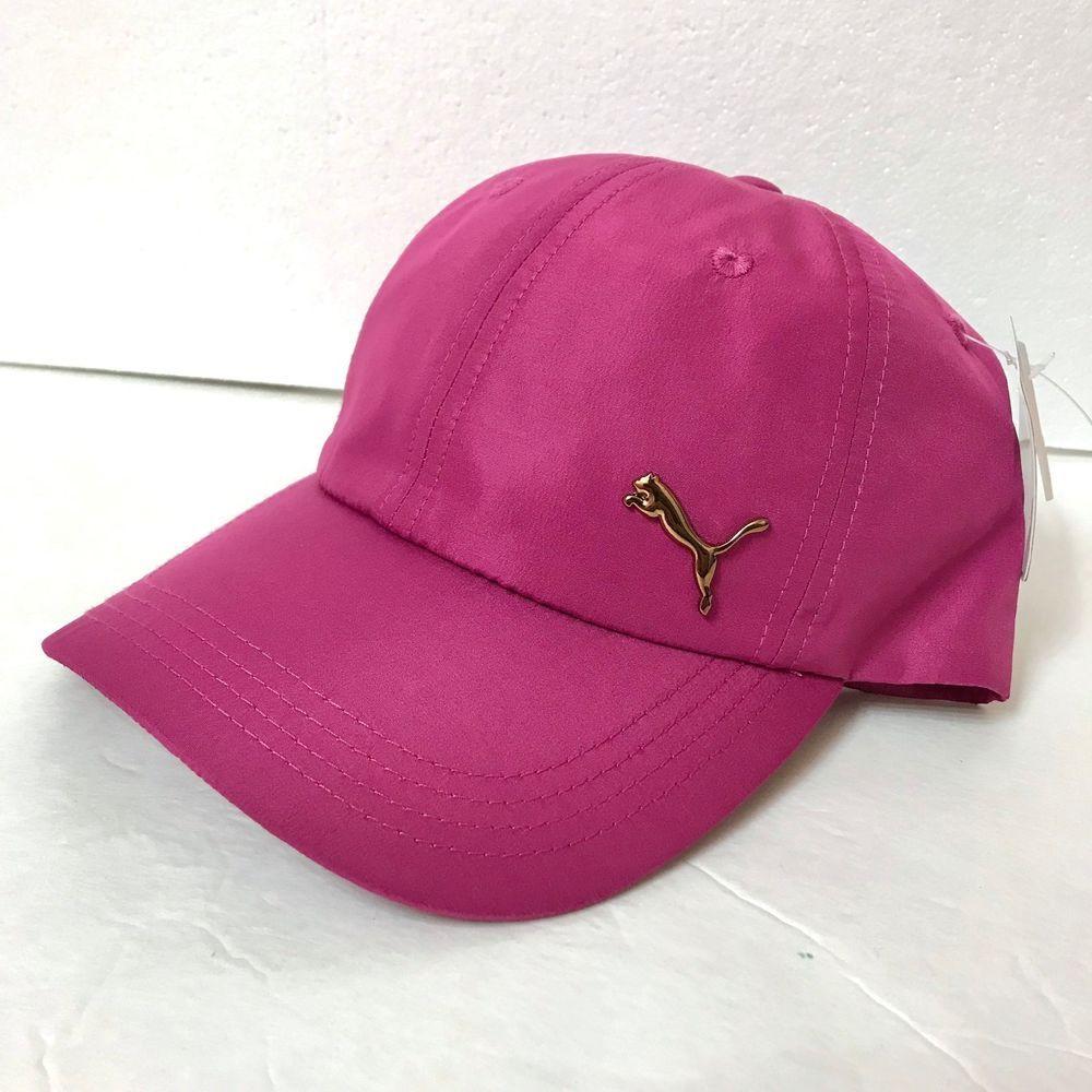 2b1a7dd272 $24 womens PUMA DRY FIT ACTIVE HAT magenta pink gold logo running ...