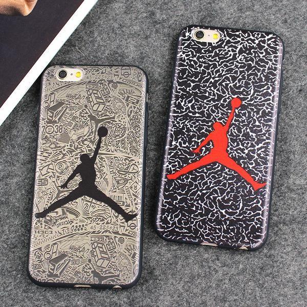 Fashion Brand Case Jordan Dunk Fly Air Man Leather Case For iPhone 7 7 Plus  6 6S 6 Plus Case Back Cover Coque Fundas cbc4dc0f0