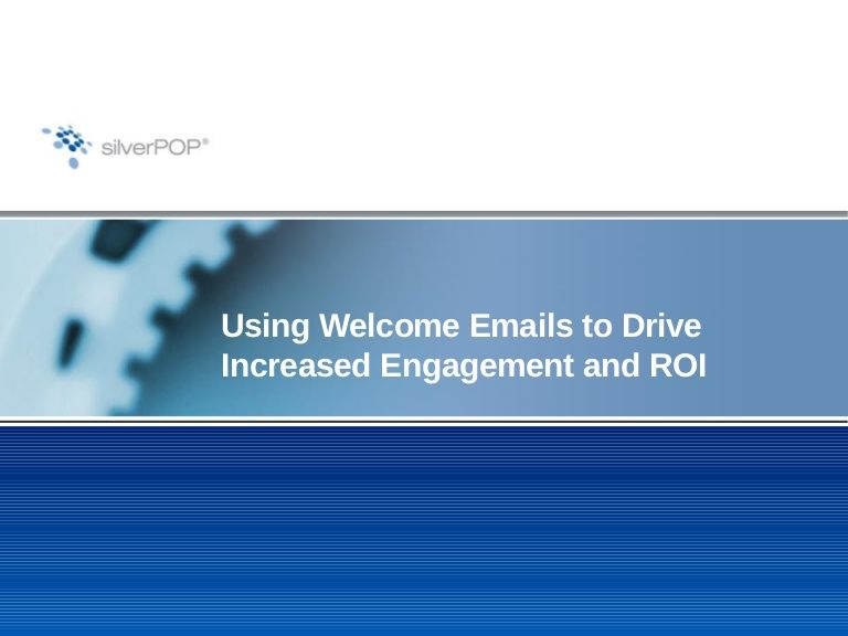 Slideshare of a presentation on welcome email by the Loren