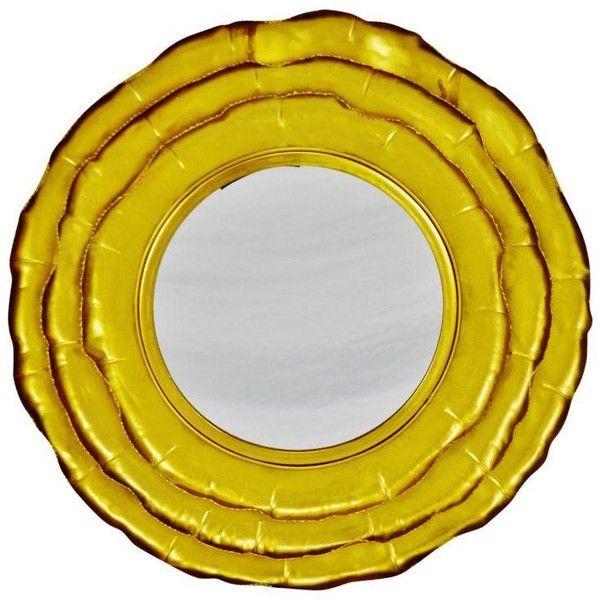 Handcrafted Gold Gilt Iron Layered Petal Wall Mirror (1,480 SAR ...
