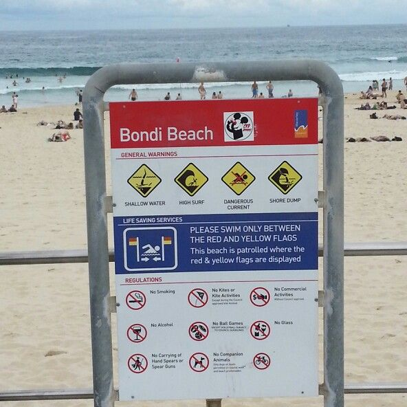 Bondi beach sign
