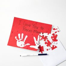 Handprint Valentine's Day Puzzle Card