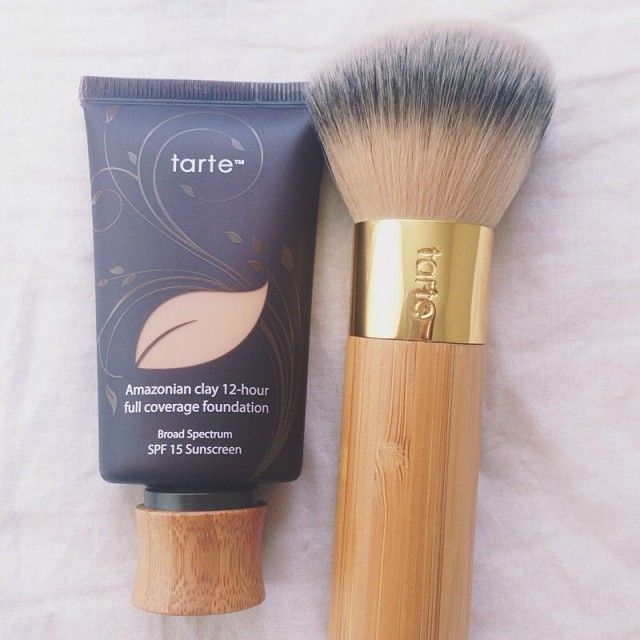 Beauty Blender Or Brush For Full Coverage: @tartecosmetics Amazonian Clay Foundation & Airbrush