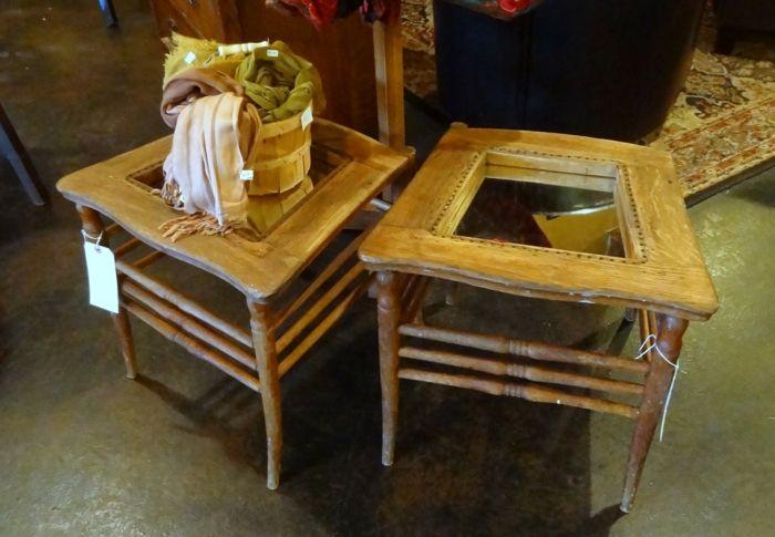 beistelltische aus alten st hlen wohnideen tisch m bel und st hle. Black Bedroom Furniture Sets. Home Design Ideas