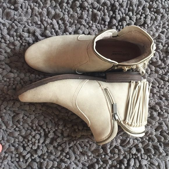 Fringe Booties Worn ONCE... Nothing wrong with them just don't wear them enough! Dollhouse Shoes Ankle Boots & Booties