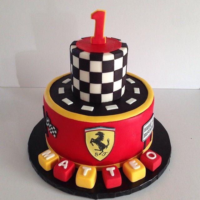 Ferrari Themed Cake For Matteos First Birthday Ferraricake