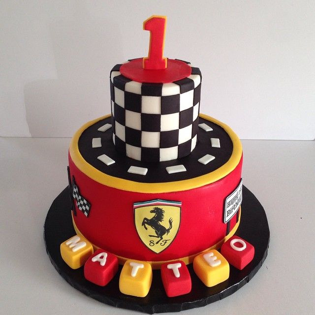 Pleasant Ferrari Themed Cake For Matteos First Birthday Ferraricake Funny Birthday Cards Online Aboleapandamsfinfo