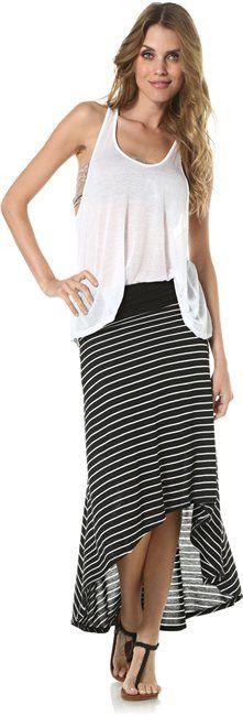 STRIPED ASYMMETRICAL SKIRT  Womens  Clothing  Skirts | Swell.com