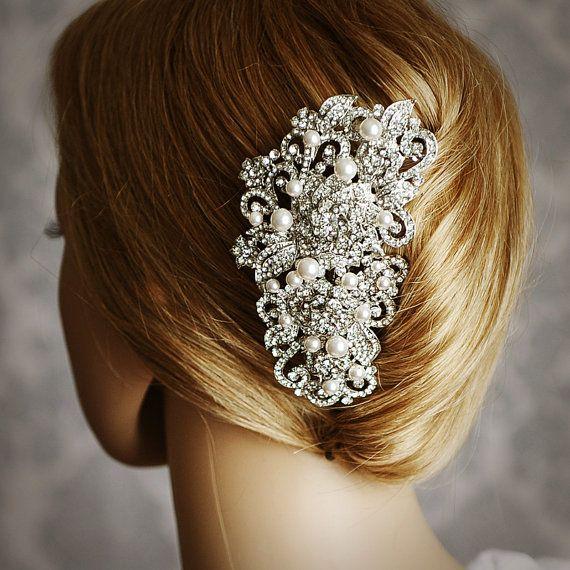 Victorian Bridal Hair Comb Vintage Style Swarovski Pearl Etsy In 2020 Bridal Hair Comb Vintage Wedding Hair Clips Wedding Hair Accessories