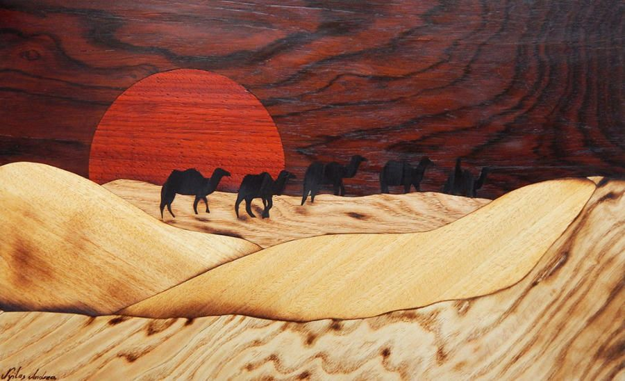 Desert - Woodworking creation by Andulino