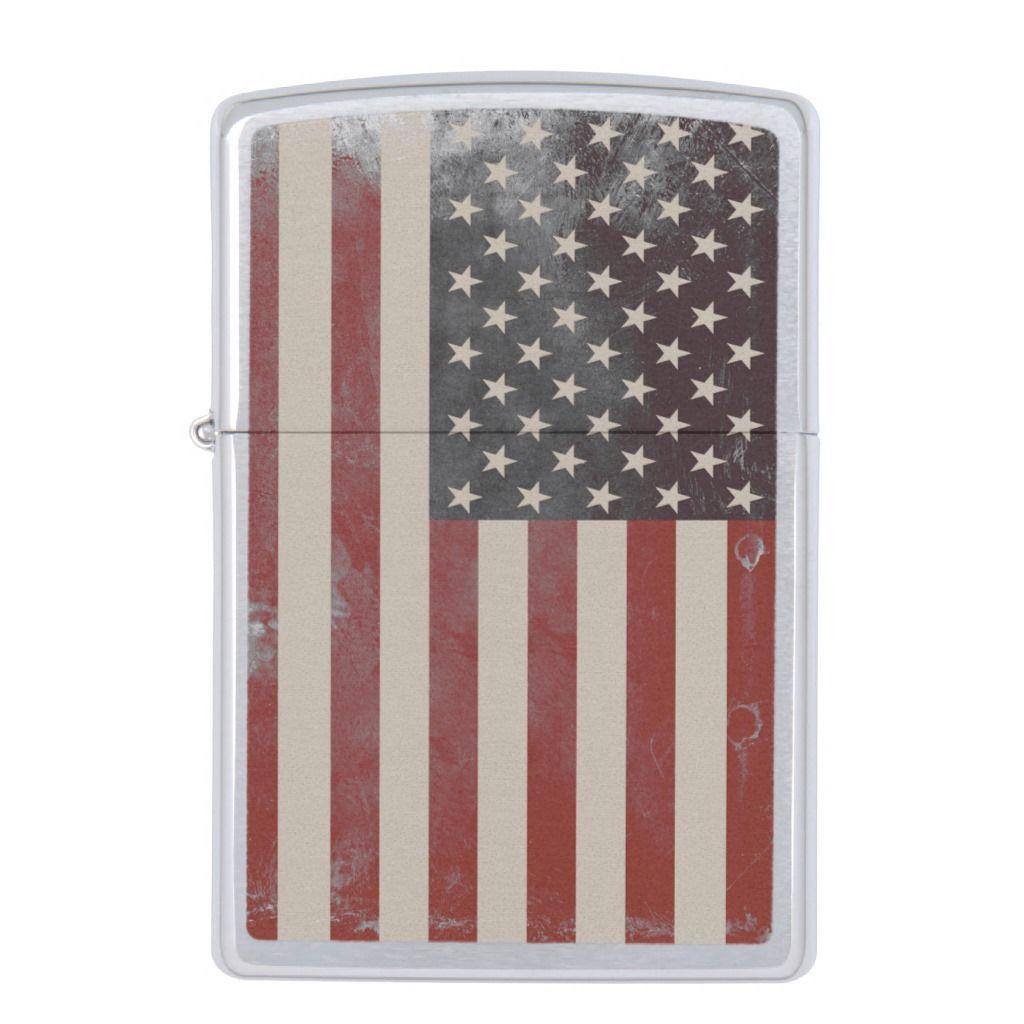 Vintage American Flag Zippo Lighter American Flag Zippo Lighter Vintage