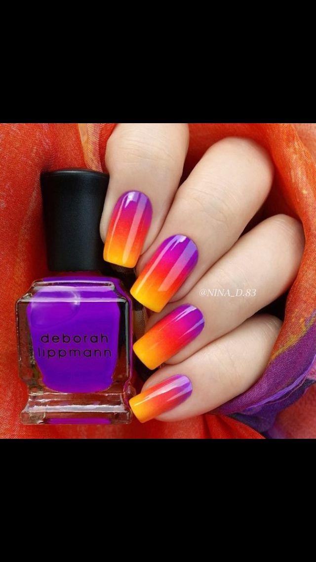 Sunset nails | Nails | Pinterest | Sunset nails, Sunset and Manicure
