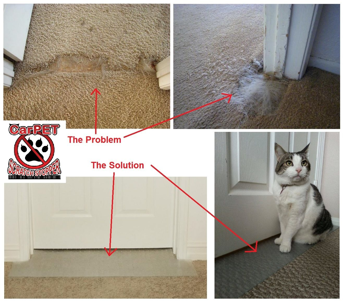 Carpet Scratch Stopper Stop Cats From Scratching Around Doorways Http Www